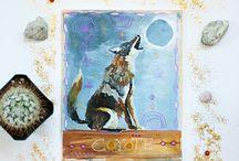 animal totem paintings