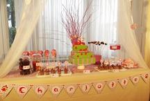 Sweet table Fée  / Des couleurs et des pois pour cette décoration d'anniversaire.  Une table gourmande et un magnifique gâteau, que la fête commence :-)