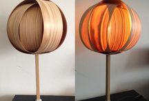 Homemade lamps / Wood veneer lamps. DIY