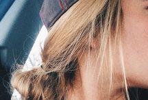 Baseball hat hair
