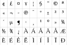 Fonts / lettering and typefaces