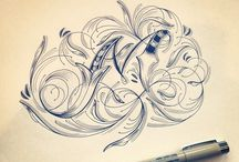 Calligraphy, Lettering