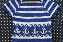 Knitting baby pullover truitje kindje free pattern