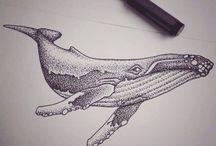 """Татуировки """"кит"""""""