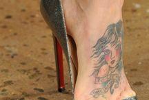 tattos feet and stiletto