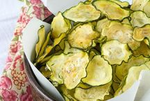 Chips zucchini salt vinegar