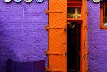paars en oranje / by Nele @spiegelstiksels