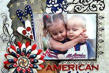 American style in scrapbooking