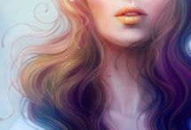 "Anna Dittmann, 1993 / Born in San Francisco with passion for enigmatic portraiture. She began digital painting around age 13 when discovered Photoshop. She is studying at the Savannah College of Art and Design. ""My inspiration comes from organic natural elements, mythology and history, movement and texture, lyrics and melodies, expressions, color variations, pretty much anything which makes me want to grab my tablet and paint""."