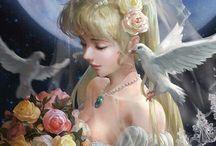 Sailor Moon / Piękne grafiki Czarodziejek :3