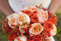 ORANGE | Style by Color / Make your wedding look as bright and colorful as you by adding a pop of orange!