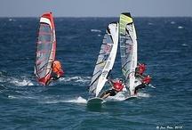 Windsurf & Kitesurf / Fotografías de regatas de windsurf o tablas a vela y Kitesurf. Clases Funboard, Race Board, RS:X, Techno 293, ...