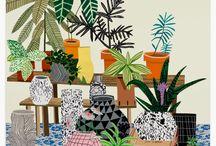 House Plants Art / Green Art & Flowers