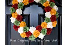 Pompon wreaths