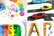 Alphabet Ideas for Beginning Readers / Explore ideas for learning the letters of the alphabet to encourage your child to learn to read.  Alphabet activities for toddlers and preschoolers as they learn to love children's books.