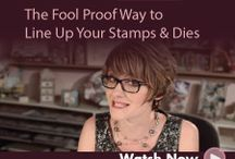 Lining up your stamp and dyes