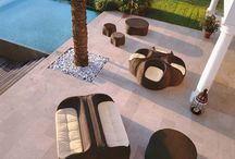 Coconut / The organic shapes remind original nature-design. Outdoor sofas and armchairs can be combined together making a funny and extravagant seating-formula.