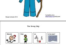 Literacy: Adapted Books - The Snowy Day / by Gretchen Conway