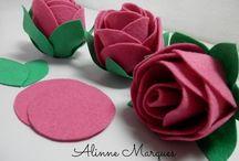 Rosa de feltro
