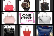 FABULOUS FRIDAY April 25th at !0 PM ET at OneCentChic / Choice Auction of Great Bags and a Michael Kors Watch