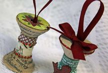 Wooden spools / Crafts / by Pat Jobe