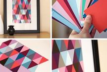 cuadros papel colores