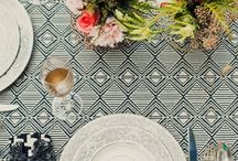 / geometric patterns / wedding inspiration / go big, bold and modern with geometric patterns at your wedding