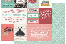 Vintage Girl by Michelle Coleman / These gorgeous florals and retro patterns of Vintage Girl will make a beautiful backdrop to all of your photos, old and new. From a sparkly little black dress to vibe-positive sentiments, this collection is loaded with vintage attitude!