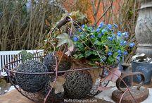 Vintage Gartendeko im Frühling