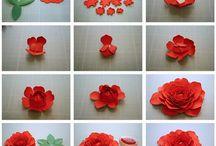 flores a mano