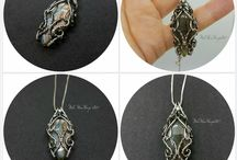 Wire Wrapped Silver Pendants
