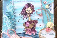LACY SUNSHINE - Cute handmade girly cards