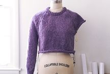 Knitted top-down jumper