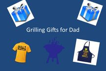 Grilling Gifts for Dad / Dad's domain is the grill. Give him the best tools possible to help make grilling even more fun and efficient. From grilling planks to grilling aprons to grilling tools, the options are endless.