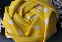Roses en tissu