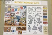 stampin up: birthday memories suite