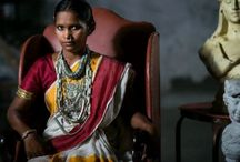 SANTHAL /  A shoot dedicated to the tribal Artisans who adorn the SARI most beautifully through their daily chores !!