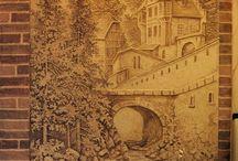 大形风景浮雕墙shi