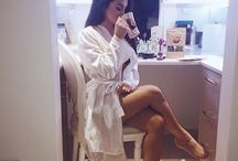 women in bathrobe