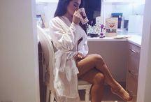 women in bathrobe