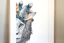 Leo the Lion with Feather Headdress