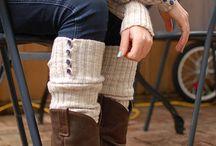 Crochet legwarmers/ boot cuffs/ gloves etc.