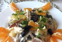 salad with chicken and pineapple . recipe with photos