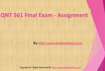 QNT 561 Final Exam Answers