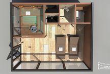 Outdoor combined sauna - warm wood & antracit