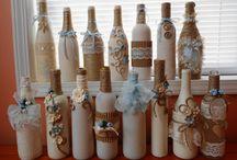 ozdobné fľaše