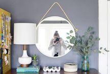 DIY pyöreä peili