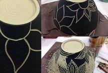 cerámica esgrafiado