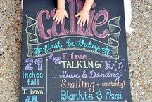 Photo 1 an bébé / Idées photo pour le premier anniversaire de bébé