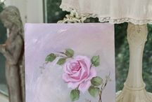 Shabby Chic Paintings Roses